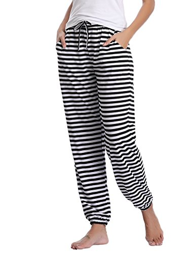 - Aibrou Pajama Pants for Womens Cotton Stretch Knit Lounge Pants Bottoms