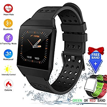 Amazon.com: luckyruby NO.1 F7 Smart Watch Real-time Heart ...