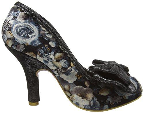 Irregular Choice Mal E Bow, Zapatos de Tacón mujer Gris (Grey Floral)