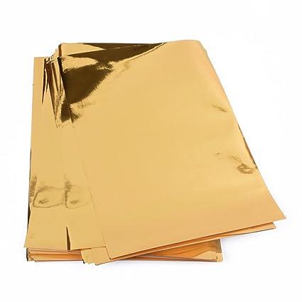 25 Fogli Di Carta Metallizzato, Oro Carta Lucida Oro Fogli Di Carta,  Pellicola,