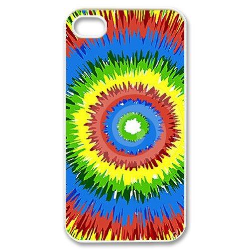 Alice iPhone 4,4s Case,Personalized Custom Tie dye,Unique Design Protective TPU Hard Phone Case Cover