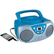 Curtis SRCD243M-BLUE Sylvania SRCD243 Portable CD Player with AM/FM Radio, Boombox (Blue)