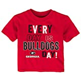 NCAA Georgia Bulldogs Toddler Everyday Short Sleeve Tee, 2T, Red