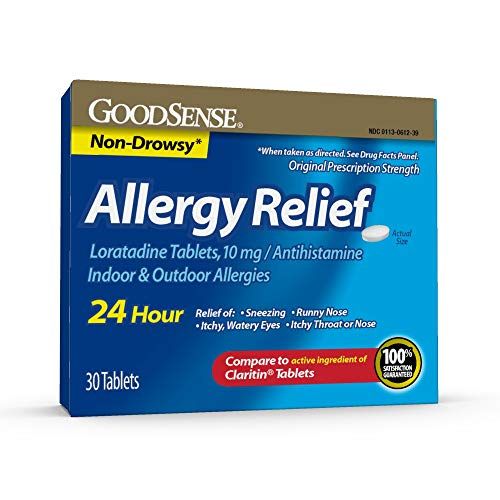 Goodsense Allergy Relief Loratadine Tablets, 10 Mg, 30Count Allergy Pills for Allergy Relief