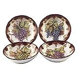 Certified International Corp 23739SET4 Vintners Journal 8.25'' Soup/Pasta Bowls, Set of 4, Multicolor