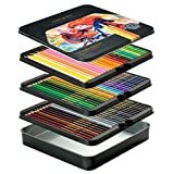 VicTsing 72 Colored Pencils, Premier Coloring Pencil Set with 3.3mm Hard Core (Harder Than Normal 2.8mm Core in the Market), Exquisite Mental Box, for Painting, Colouring Books, 2019 Upgraded