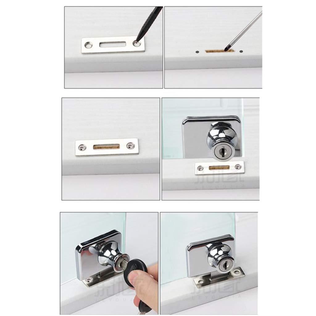 Homyl Serratura Scorrevole Chiusura Vetrina Porta Finestra Vetro Display Valigia 35x32mm A