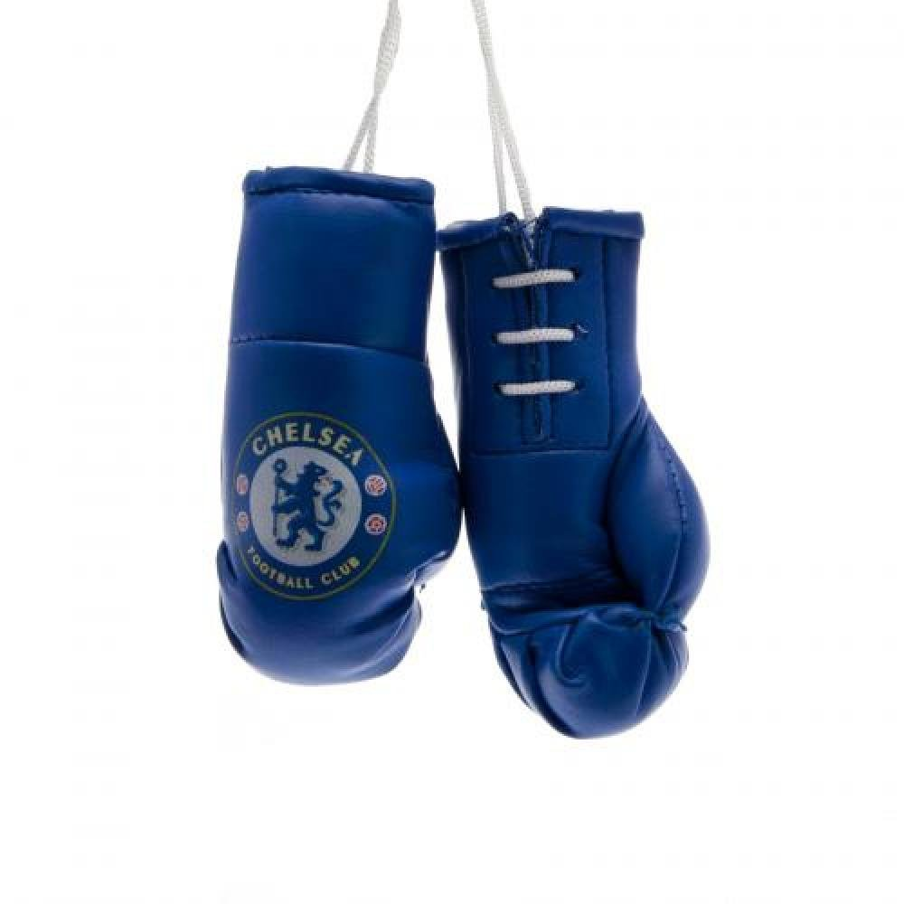 Car Accessories - Official Chelsea FC Hanging Mini Boxing Gloves - Novelty Football Gift Ideas ONTRAD Limited
