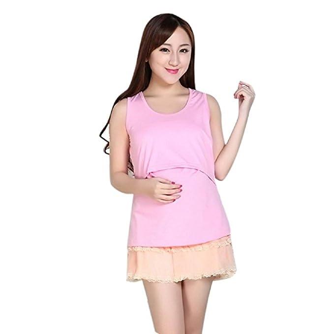 546fa5f226fc9 Amazon.com: AIMTOPPY Pregnant Maternity Clothes Nursing Tops Breastfeeding  Vest T-Shirt (Orange Yellow): Home & Kitchen