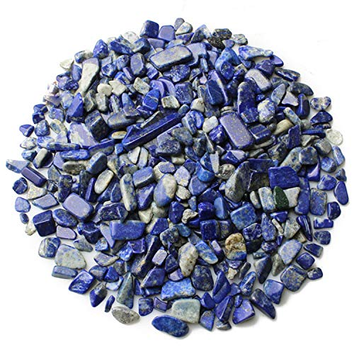 Wayber Blue Pebble, 0.9 Lb/410g Lapis Stones Rock Crystal Sands for Aquarium Fish Turtle Tank Landscape/Bonsai Succulent Plants Ornament/Bottom Decoration (Fills 1 Cup)