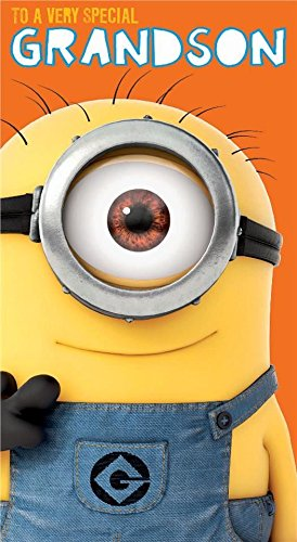 Despicable Me Minion Grandson Happy Birthday Card