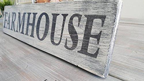 Farmhouse wood distressed sign