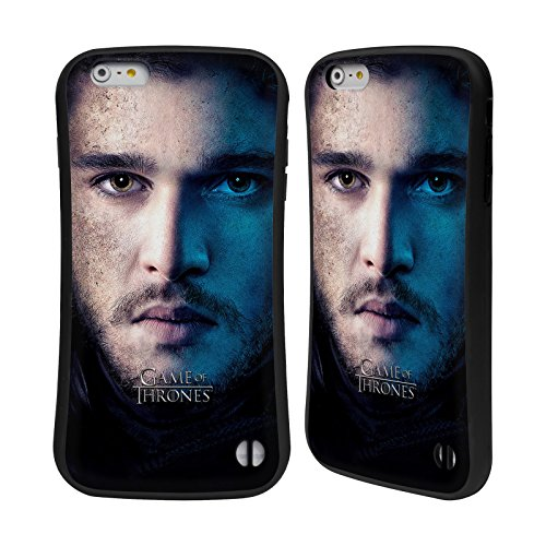 Officiel HBO Game Of Thrones Jon Snow Valar Morghulis Étui Coque Hybride pour Apple iPhone 6 Plus / 6s Plus