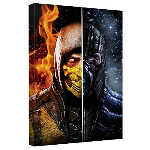 Fire & Ice -- Mortal Kombat -- Stretched Canvas Framed Artwrap, 8x12