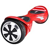 ORKAN Certified Hoverboard Personal Adult Transporter Smart Self-Balancing Electric Scooter Two Wheel X1S 6.5' UL2272 (Red)