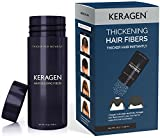Hair Fibers Dark Brown | Thickening Hair Powder Fibers for Building and Filling Thinning Hair | Ideal for Men and Women | Keragen Fibers gives you Fuller, Thicker Hair Instantly