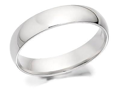 b2b39c39b5cc4 F. Hinds Mens Gents 9ct White Gold Court Extra Heavyweight Wedding ...
