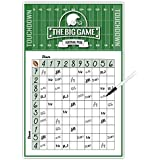 Katie Doodle Super-Bowl Party Supplies Games-Squares Poster [11x17 inches] with Removable Easy-Stick Wall Tabs-Design (SB001), White