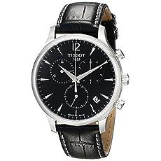 Tissot Men's T063.617.16.057.00 Black Dial Tradition Watch