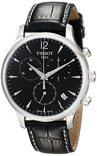 Tissot-Mens-T0636171605700-Black-Dial-Tradition-Watch