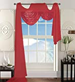 Elegant Kitchen Window Curtains Elegant Comfort Beautiful Window Panel Curtain Sheer Voile Scarf 55