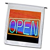 3dRose fl_64994_1 An Open Sign in Neon Green and