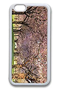 iPhone 6 Case, 6 Case - Perfect Fit Soft TPU Case Bumper for iPhone 6 Spring Orchard Trendy Design White Rubber Back Case Cover for iPhone 6 4.7 Inches