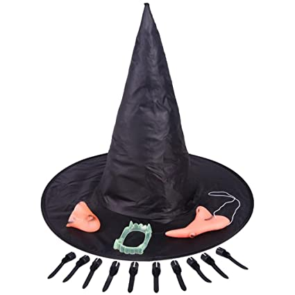 Bruja Sombrero Halloween Props Dentaduras Postizas Uñas ...