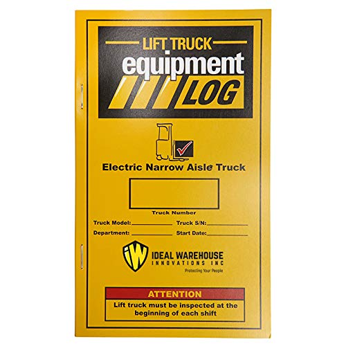 Replacement Lift Truck Log Book for Electric Narrow Aisle