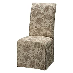 Powell Woven Gold with Taupe Floral Pattern Skirted Slip Over, Fits 741-440 Chair