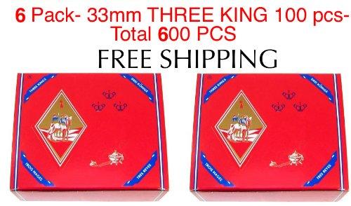 (6 - Box of 100pcs Three King Charcoal Premium Hookah Hokah incense charcoal coals- TOTAL 600)