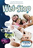 Wet-Stop Mattress Encasement: Bed Bug Proof, Dust Mite Proof, Bacteria and Waterproof Zippered (Twin)