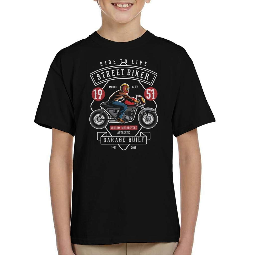 Streetbiker Custom Motorcycle Kids T-Shirt