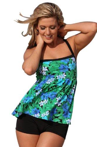 Ujena Spa Botanico Tankini Plus Swim Dress - Top, Bottom or Set by UjENA