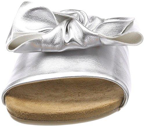 Slipper Cute Argenté silver Femme Mocassins Bianco Bow 91 AxgEqaEw
