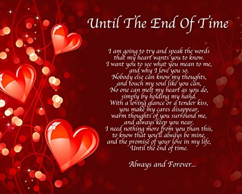 Love Poems For Wife Or Girlfriend: Personalised Until THe End Of Time Poem Birthday Christmas