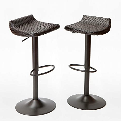 RST Outdoor IP-PEBST3205-E Woven Wicker 2-Pack Barstool
