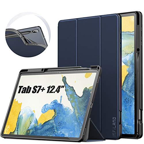 کیف پلاستیکی ـ چرمی INFILAND برای تبلت سامسونگ مدل Galaxy Tab S7+/ S7 Plus 12.4-inch SM-T970/T975/T976 2020
