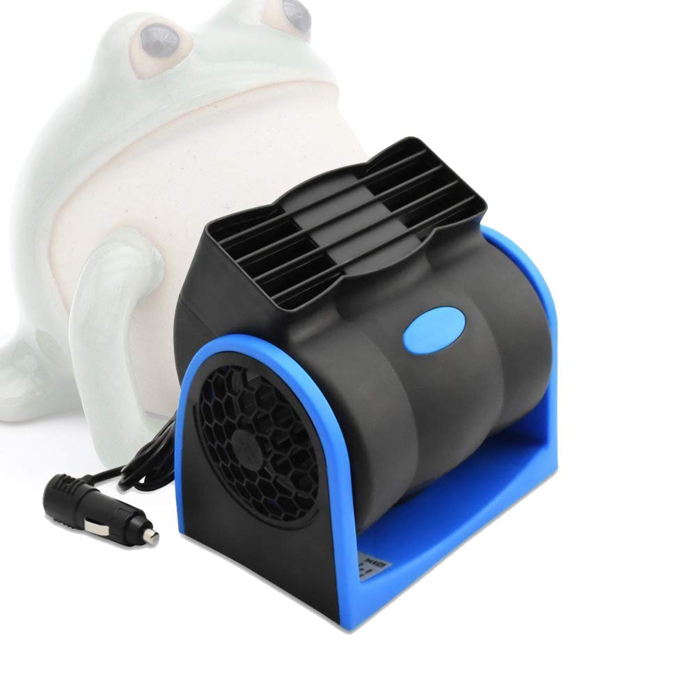 MAXTUF Car Fan, Vehicle Cooling Fan Car Air Circulator Bladeless Fan 12V 2-Speed Low Noise Portable Desktop Cooler with Cigarette Lighter for Truck RV SUV or Boat to Enjoy Your Time (Bladeless Fan-N)