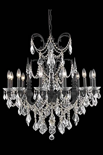 - Elegant Lighting 9712D32DB/SS Athena Collection Dining Room Hanging Fixture D32