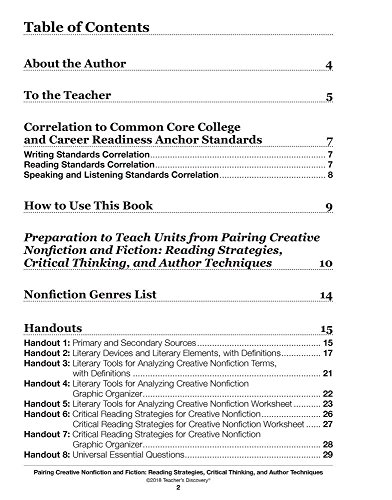 Amazon Pairing Creative Nonfiction And Fiction Reading