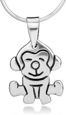 Handmade Oxidized Brass Monkey Necklace