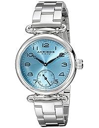 Akribos XXIV Women's AK806SSBU Analog Display Japanese Quartz Silver Watch