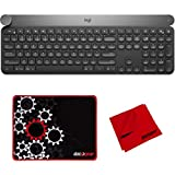 Logitech Craft-Advanced Wireless Bluetooth Keyboard with Deco Gear Mouse Pad Bundle