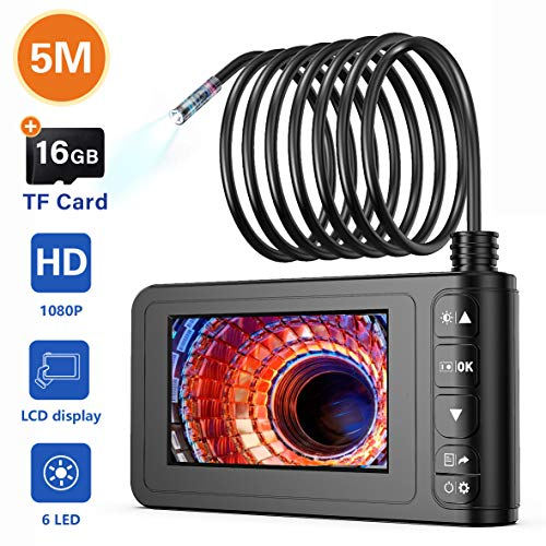 Industrial Endoscope, SKYBASIC 1080P HD Digital Borescope Camera Waterproof 4.3 Inch LCD Screen Snake Camera Video…