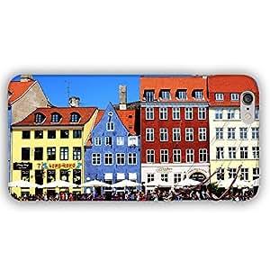 Copenhagen Denmark City View of Buildings iPhone 6 Plus Slim Phone Case