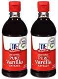 McCormick QDJX All Natural Pure Vanilla Extract, Gluten-Free Vanilla, 2 Pack of 16 Oz