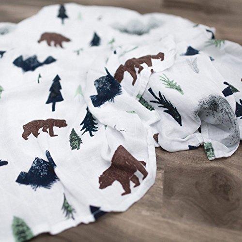 Saranoni Luxury Decorative Muslin Swaddle Baby Blanket (Yosemite)