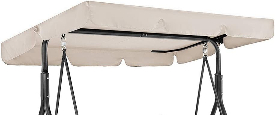 142 * 120 * 18cm,Beige GEBIN Copertura di Ricambio Universale per Dondolo A 3 Posti Baldacchino di Ricambio Dondolo da Giardino Resistente Ai Raggi UV. Impermeabile
