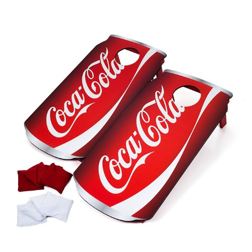Officially Licensed Coca Cola Design Cornhole Bean Bag Toss Game - Includes 8 Bean Bags! by TMG